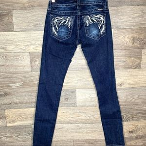 Miss Me Signature Skinny Embroidered Jeans